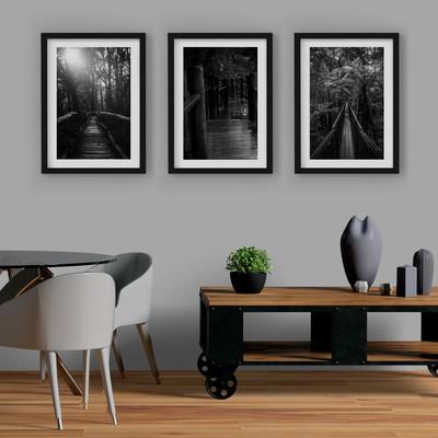 3 Çerçeveli Tablo Seti - Orman Köprüleri