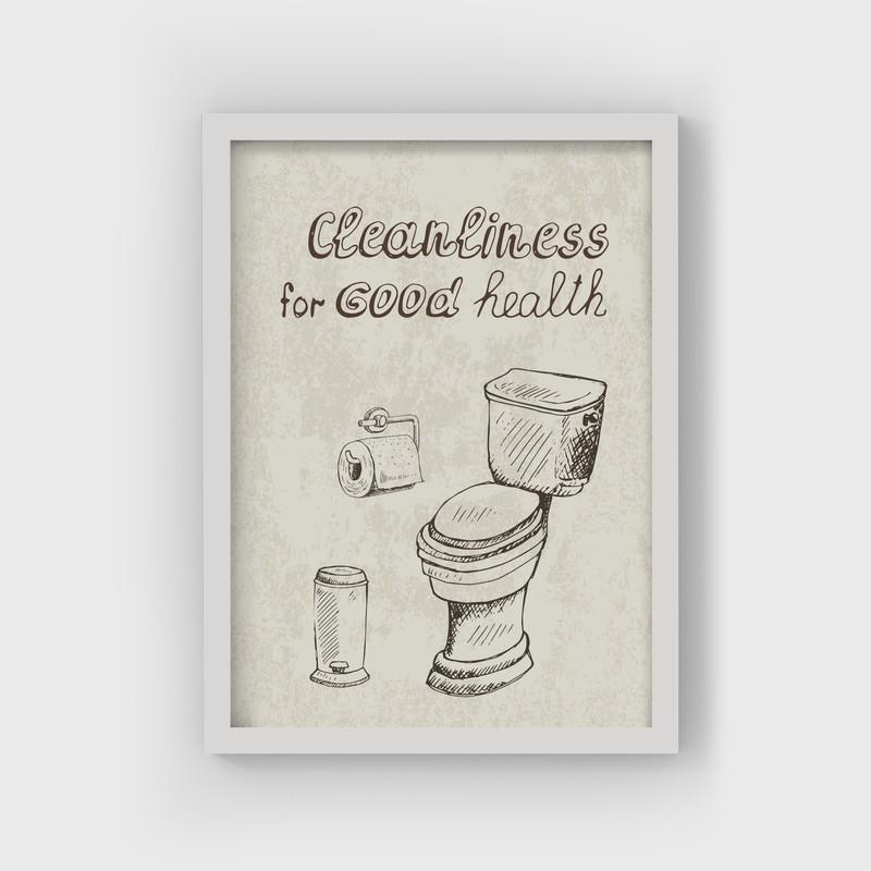 3 Çerçeveli Tablo Seti - Banyo Figürleri