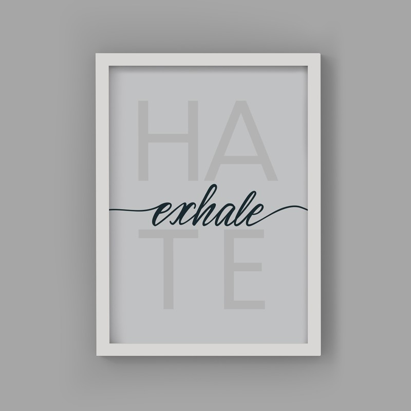 2 Çerçeveli Tablo Seti - İnhale Exhale