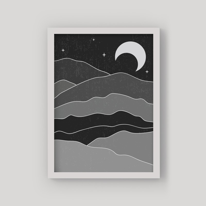 2 Çerçeveli Tablo Seti - Gündüz ve Gece