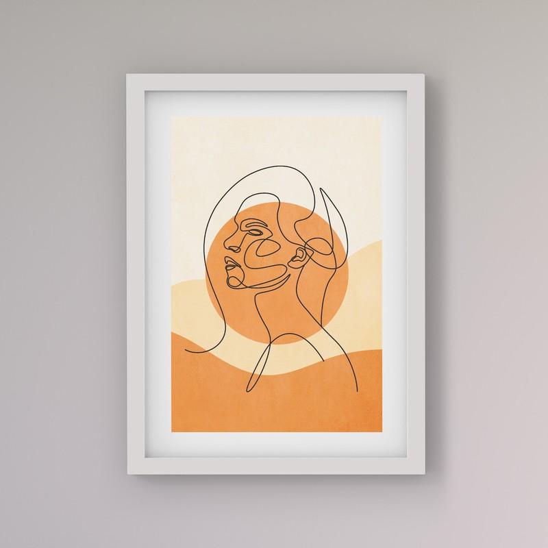 Çerçeveli Tablo Seti - Line Art Kadın figürü