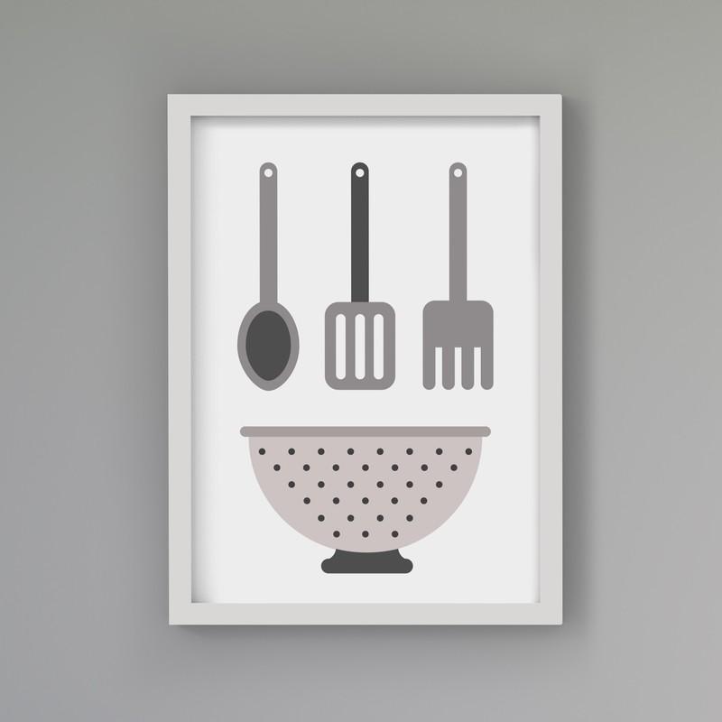 3 Çerçeveli Tablo Seti - Yemek Sevdası