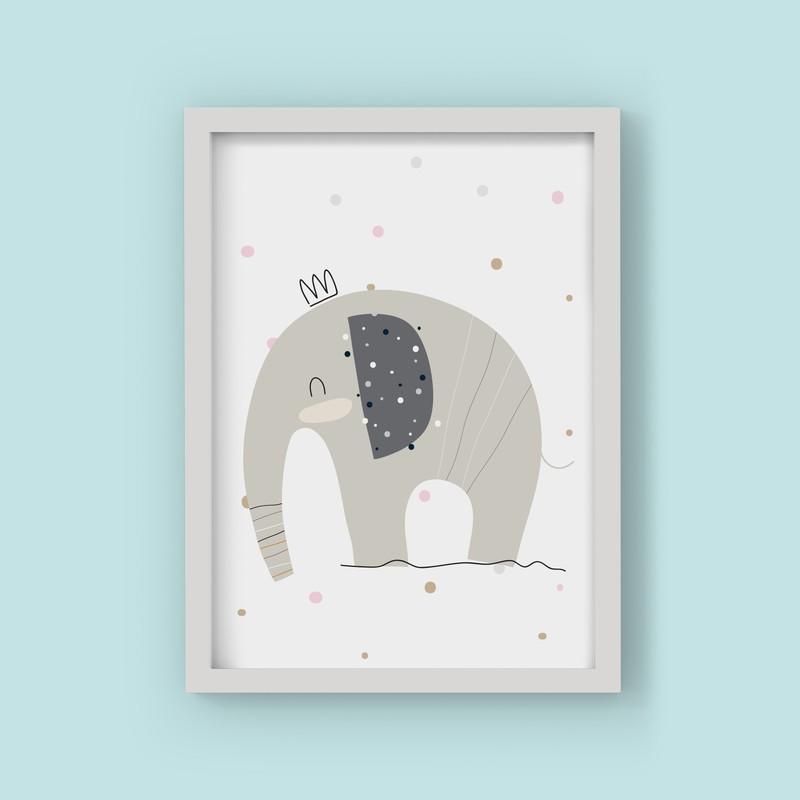 3 Çerçeveli Tablo Seti - Çizim Filler