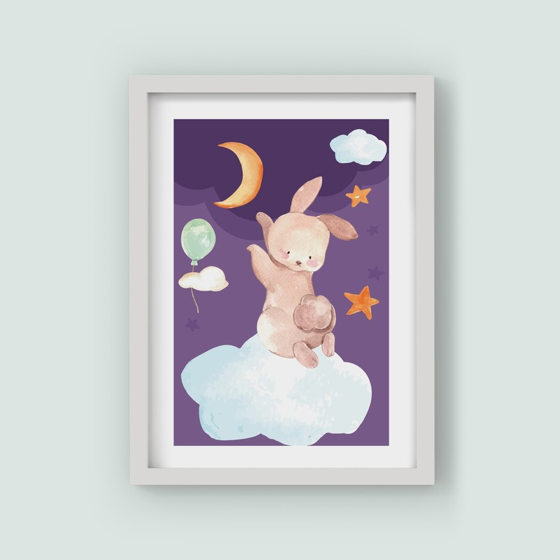 3 Çerçeveli Tablo Seti - Rüyamda ki Tavşan
