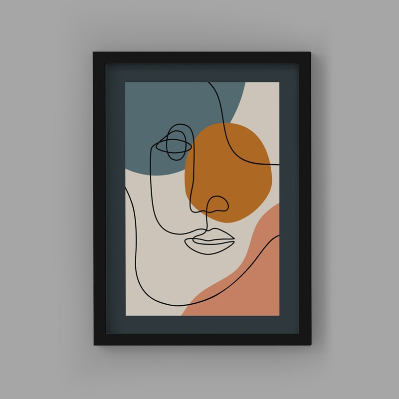 3 Çerçeveli Tablo Seti - Kübik Sanat
