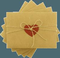 13x18 Kartpostal - 13x18 Kırmızı Kalpli & İpli Kraft