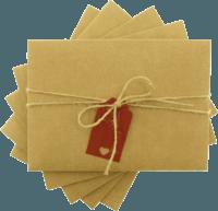 13x18 Kartpostal - 13x18 Kırmızı Etiketli & İpli Kraft